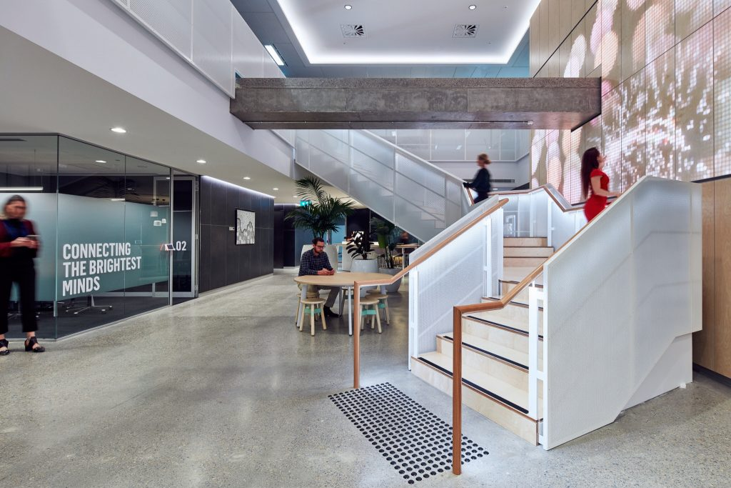 Urbis' new Angel Place office. Image courtesy of Toby Peet.